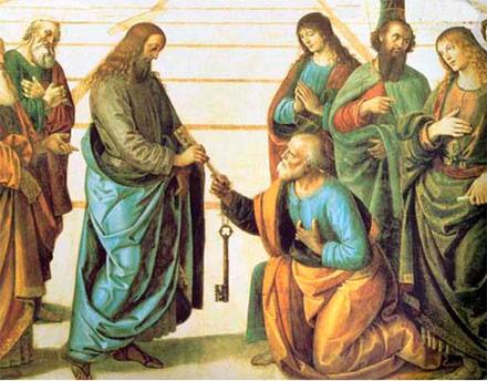 Pedro recibe las llaves de la Iglesia